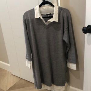 Never worn Venus grey sweater dress.